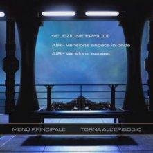 Il menù principale di selezione episodi del disco 1 di Stargate Universe, stagione 1