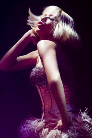 Christina Aguilera in un'immagine del film Burlesque