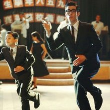 Aarif Lee in una sequenza del biopic Bruce Lee, My Brother