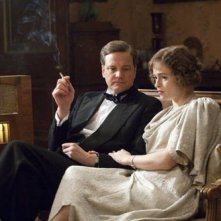 Colin Firth con Helena Bonham Carter nel film The King's Speech