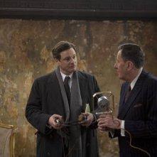 Colin Firth e Geoffrey Rush nel film The King's Speech