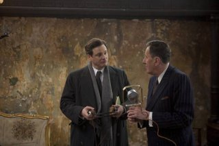 Colin Firth e Geoffrey Rush nel film The King's Speech