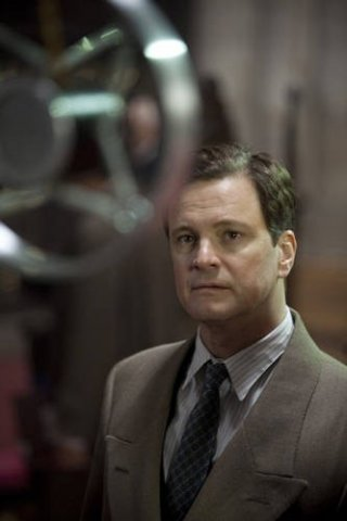 Colin Firth in un'immagine del film The King's Speech