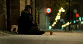 Reidar Sørensen in una scena del film Tornando a casa per Natale