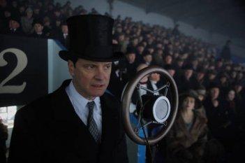 Un elegante Colin Firth per il film The King's Speech