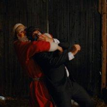 Una concitata scena del film Tornando a casa per Natale