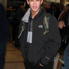 BooBoo Stewart arriva all'aeroporto di Los Angeles per andare in Louisiana a girare il prossimo film di 'Twilight'