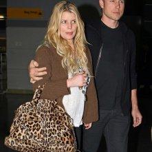 Jessica Simpson ed Eric Johnson arrivano a New York per il Ringraziamento