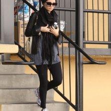 Nicole Richie mentre lascia la palestra in West Hollywood