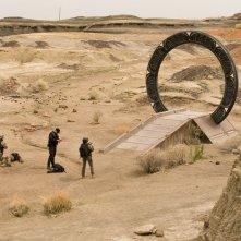 Il soldati (Jamil Walker Smith, Brian J. Smith e Julia Anderson) nell'episodio Malice di Stargate Universe