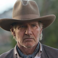 Un primo piano di Col. Woodrow Dolarhyde interpretato da Harrison Ford nel film Cowboys & Aliens