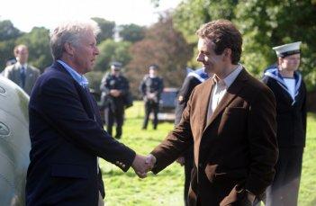 Dennis Quaid e Michael Sheen in una immagine del film I due presidenti (The Special Relationship)