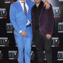 Johnny Knoxville con il regista Jeff Tremaine alla premiere di Jackass 3-D a Los Angeles