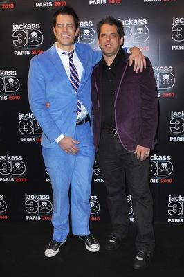 Johnny Knoxville con il regista Jeff Tremaine alla premiere di Jackass 3-D a Los Angeles