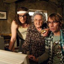 Mirco Nontschew, Dorothea Walda e Arnd Schimkat nella commedia Otto's Eleven