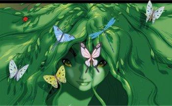 Farfalle multicolore in una scena del film Fantasia 2000