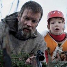 Jorma Tommila recita col figlio Onni Tommila nel film Rare Exports: A Christmas Tale, del 2010