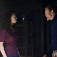 Ming-Na e Mike Dopud in una scena dell'episodio Visitation di Stargate Universe