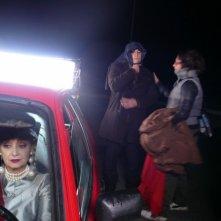 Gelormini e Milena Vukotic sul set di Caro Benzina.