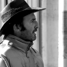 Franck Llopis sul set del film L'étranger