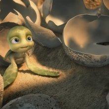 Il tartarughino marino protagonista del film d'animazione Le avventure di Sammy - Il passaggio segreto