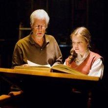 Michael Apted e Georgie Henleysul set de Le cronache di Narnia: Il viaggio del veliero