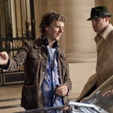Michel Gondry con Seth Rogen sul set del film The Green Hornet