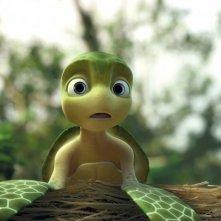 Un sorpreso Sammy nel film d'animazione Le avventure di Sammy - Il passaggio segreto