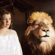 Georgie Henley in una sequenza de Le cronache di Narnia: Il viaggio del veliero