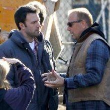 Ben Affleck con Kevin Costner sul set del film The Company Men