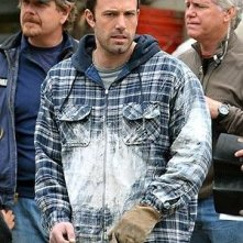 Ben Affleck durante le riprese del film The Company Men