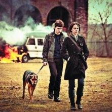 Kate Dickie e Niall Bruton in una scena dell'horror scozzese Outcast
