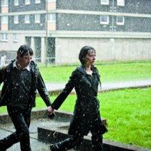 Kate Dickie e Niall Bruton nel ruolo di madre e figlio nell'horror scozzese Outcast