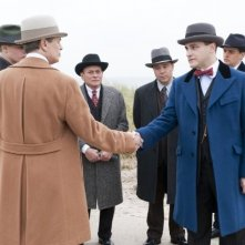 Michael Pitt, Steve Buscemi e Michael Stuhlbarg in una scena dell'episodio A Return to Normalcy di Boardwalk Empire