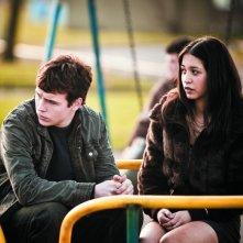 Niall Bruton con Therese Bradley in una scena dell'horror scozzese Outcast