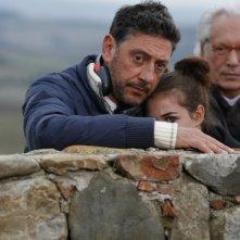 Sergio Castellitto, Nina Torresi ed Enzo Jannacci sul set del film La bellezza del somaro