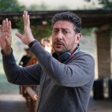 Sergio Castellitto sul set del film La bellezza del somaro