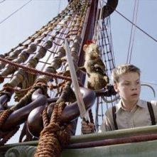 Will Poulter in una sequenza de Le cronache di Narnia: Il viaggio del veliero