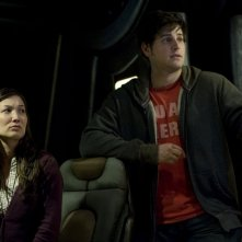 Lisa (Jennifer Spence) e Eli (David Blue) nell'episodio Resurgence di Stargate Universe