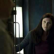 Rachel (Michelle Harrison) in una scena dell'episodio Visitation di Stargate Universe