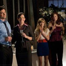 Tom Welling, Erica Durance, Britt Irvin, Cassidy Freeman, Alessandro Juliani nell'episodio Icarus di Smallville