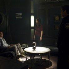 Tygh Runyan, Ming-Na e Justin Louis nell'episodio Visitation di Stargate Universe