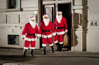 Aldo, Govanni e Giacomo, protagonisti de La banda dei Babbi Natale