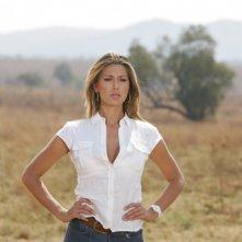 Belen Rodriguez in una immagine del film Natale in Sudafrica