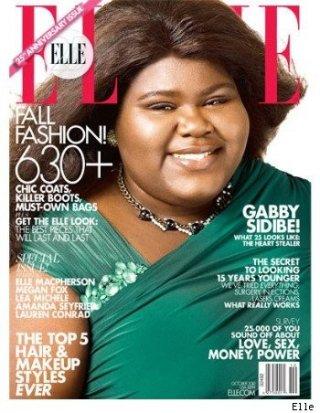 Gabby Sidibe, star di Precious, sulla cover del magazine Elle