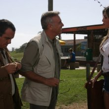Giorgio Panariello e Massimo Ghini con Belen Rodriguez nel film Natale in Sudafrica