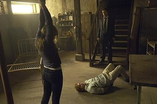 Julia Stiles Michael C Hall E Jonny Lee Miller In Una Scena Dell Episodio The Big One Di Dexter 186605