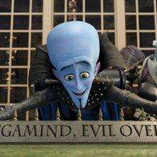 L'ambizioso Megamind con il braccio destro Minion nel film Megamind