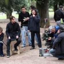 Silvio Muccino sul set del suo film Un altro mondo