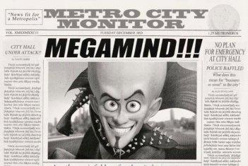 Una sequenza del film Megamind